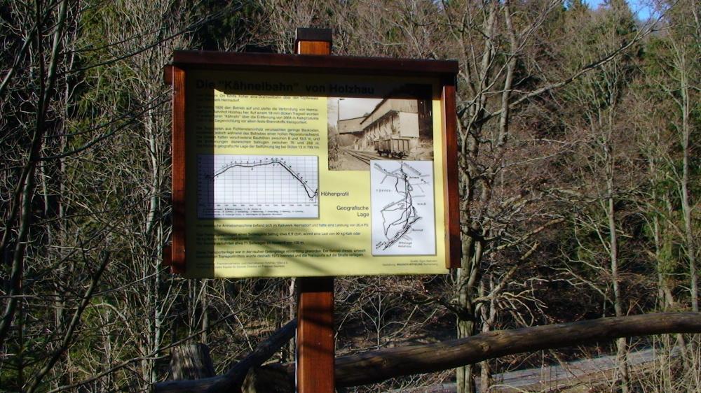 Die Seilbahnanlage zum Kalkwerk Holzhau