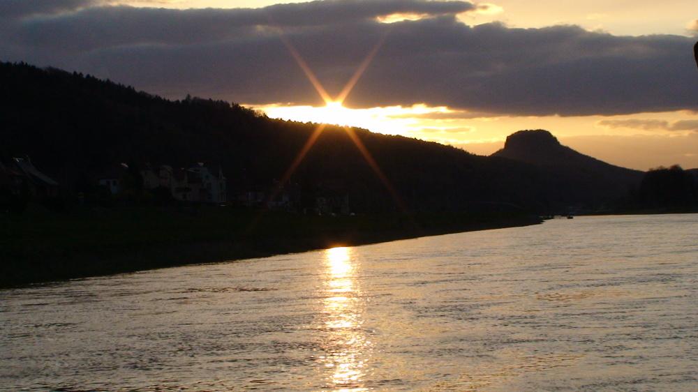 Sonnenuntergang in Bad Schandau / Krippen