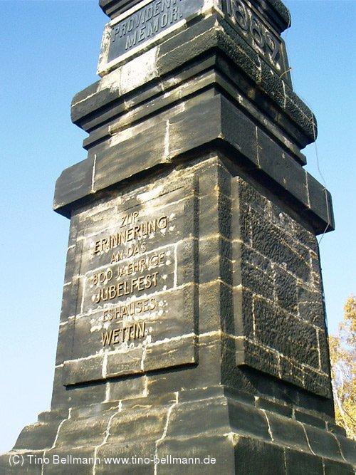 Wettiner-Gedenkstein auf dem Lilienstein