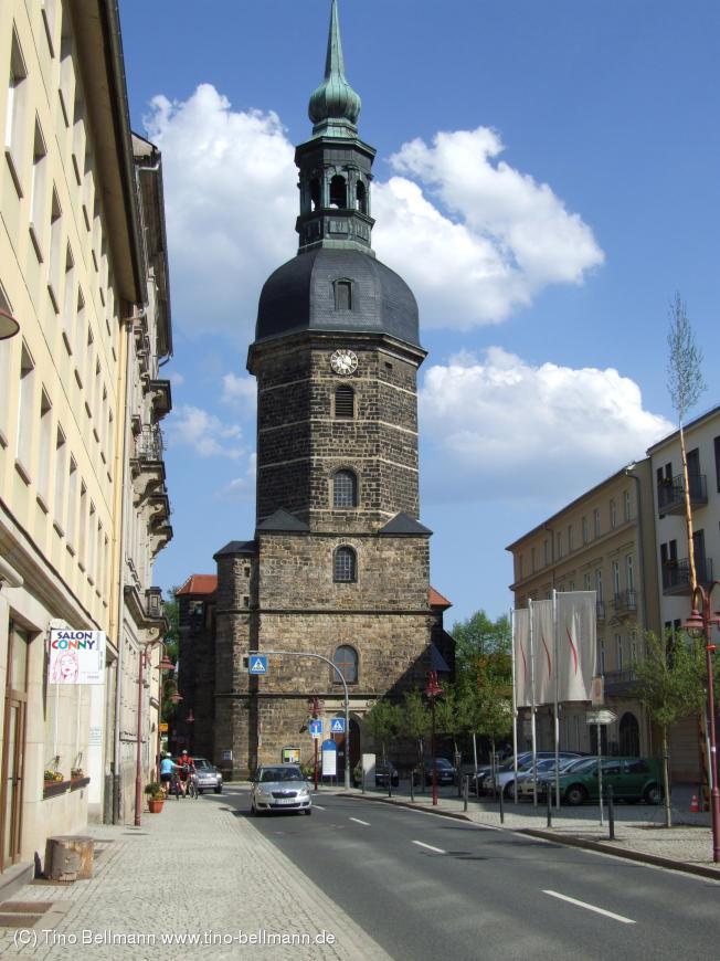 Marktplatz und Stadtkirche in Bad Schandau