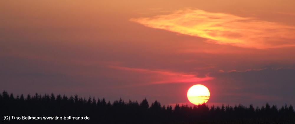 Die Natur hat sich heute richtig Mühe gegeben - bis zum Sonnenuntergang !