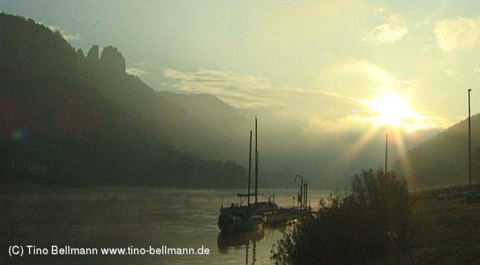 Sonnenaufgang in Bad Schandau - Ziegelscheune