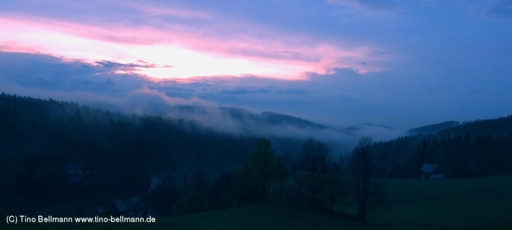 Die letzten Sonnenstrahlen des Tages - in Rehefeld