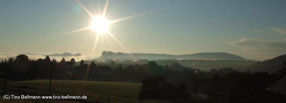 Sonntagmorgen zwischen Papstdorf und Kleinhennersdorf